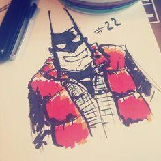 Inktober 2015, day 19-24 coffee sketches on Behance #batman #backtothefuture #martymcfly