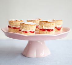 Serve your Victoria sandwich in mini versions to make this classic cake feel extra special