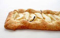 Pear Galette with Honey Cream and Blue Cheese