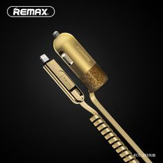 Remax USB Car Charger Total 3.4A with Spring Shape Micro USB Cable Lighting Cable for iPhone Samsung LG Huawei xiaomi Tablet PC Digital Guru Shop
