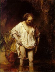Rembrandt van Rijn (1606-1669). bather