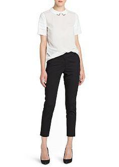 MANGO - CLOTHING - Tops - Crystal detail blouse $60