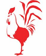 """Red Cock 2017 Year of the """"Fire Cock""""..red rooster.."""