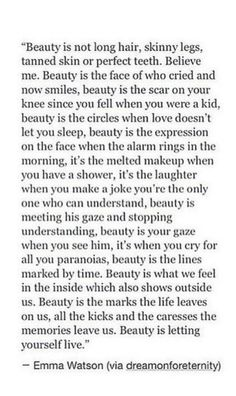 Beauty equals......