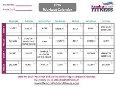 piyo workout calendar