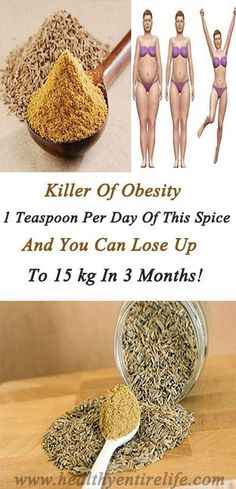 Killer of obesity – 1 teaspoon per day of this spice and you can lose up to 15 kg in 3 months! Herbal Remedies, Health Remedies, Natural Remedies, Health Tips, Health And Wellness, Health Fitness, Health Articles, Health Facts, Fitness Diet