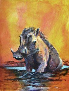 "Contemporary Painting - ""Hogs Heaven"" (Original Art from Jenny Regan)"