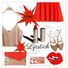 """Fall Beauty: Red Lipstick  (yoins 4)"" by meyli-meyli ❤ liked on Polyvore featuring Garance Doré, L.K.Bennett, Casetify, REDLIP, yoins, yoinscollection and loveyoins"