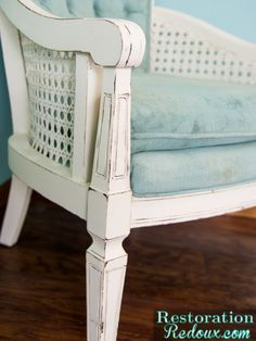 Vintage cane back chair makeover - Debbiedoo's