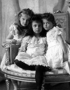 """In the fall of 1903, the wedding of Princess Alice of Battenburg and Prince Andrew of Greece took place in Hesse. Ella's Russian cousins, Olga, Tatiana, Marie, and Anastasia came for the wedding. The little girls played together often and Olga and Ella were best friends. One morning Olga complained that her nurse treated her like a baby for keeping her in bed while Ella got to watch a game. Ella replied """"You will see it very often, but I shall never again see it."""""""