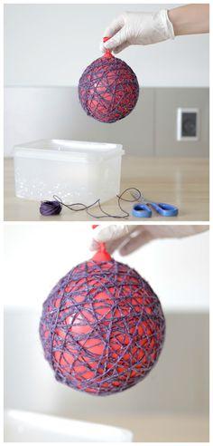 Garn på ballon