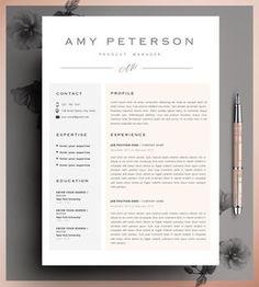 Plantilla De Curriculum Vitae Creativo Plantilla CV Por CvDesignCo  What Is Cover Letter For Resume
