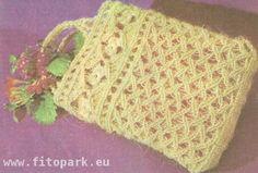Схема плетения сумки в технике макраме