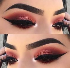 Imagem de eyes and makeup