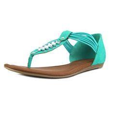Rampage Decarte Women US 9.5 Green Thong Sandal, Women's, Size: 9.5 B(M) US, Blue
