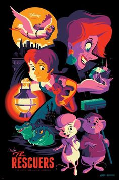 The Rescuers (variant) by Tom Whalen for Mondo X Cyclops #Disney