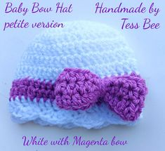 Baby Bow Hat Baby Girl Hat Bow Beanie Photo Prop Baby Girl | Etsy Baby Girl Hats, Girl With Hat, Baby Bows, Dr Brown Bottles, Bee Design, Crochet Round, Twin Babies, Cute Bows, Pretty Baby