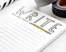 Notepad - To-Do List - Write That Shit Down - Graduation Gift