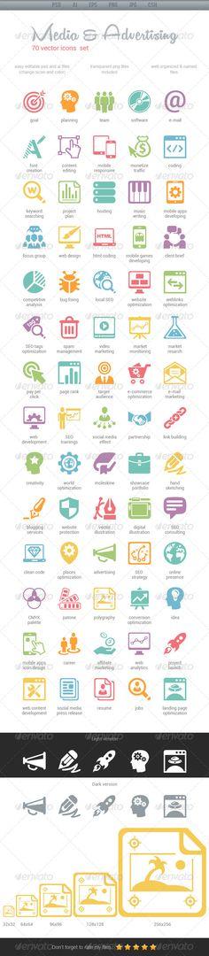 Media & Advertising Icons - Web Icons