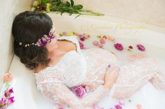 Maternity Milk Bath Maternity Crown Maternity Dress{Seattle Maternity Photographer} - Kamikay…