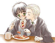 """My breakfast : Draco x Harry"" by yukipon on deviantART"
