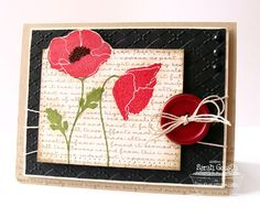 Images: Pretty Poppies by MFT. Card by Sarah Gough www.thinkingstamps.com