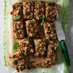 #Apple crumble slices are perfect for on-the-go snacks! #recipe #picknpay #freshliving