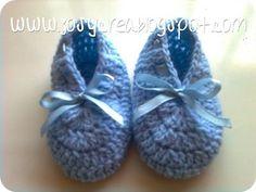 *.:。✿JosyCrea✿.。.:* Tejido a Crochet y Más!: Patucos paso a paso