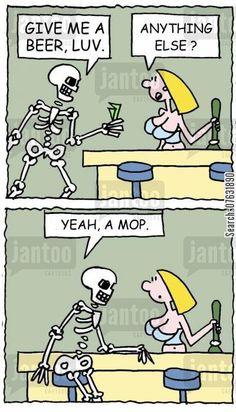 skeleton drinking beer - Google Search