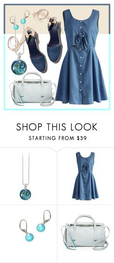 """Chambray Sway"" by avagoldworks ❤ liked on Polyvore featuring Chicwish, Botkier and avagoldworks"
