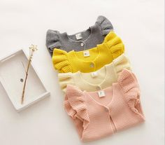 Girls Cardigans Lolita Sweater Baby Girl Single Button Knitted Vest Lotus Leaf Knitwear Sweater Crochet Boys Sweater Kids Pullovers From Jjl_toys, $110.76| Dhgate.Com