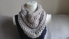Chunky Knitted Cowl Infinity Scarf by KnotsandBowsBoutique on Etsy
