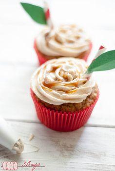 Caramel Apple Cupcakes | 3 Boys Unprocessed