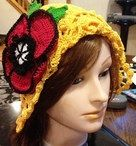 PATTERN  Hat with Poppy Seed flower by KCWL on Etsy, $3.50