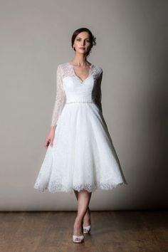 ba79c7fac0a Montreal by Rita Mae. Lace Tea Length DressTea Length Wedding ...