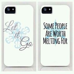 Frozen phone cases<<<love the let it go one (cough cough Christmas gift cough cough)