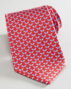 Elephant Election Tie, Red by Salvatore Ferragamo at Neiman Marcus.