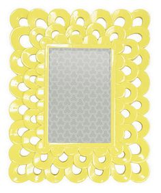 Look what I found on #zulily! Yellow Feather Cutout Picture Frame #zulilyfinds