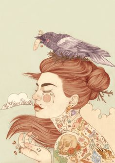 Travail de la jeune illustratrice anglaise Liz Clements.