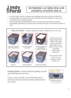 How to make a feral cat shelter for the winter. Styrofoam cooler inside of plastic storage container.