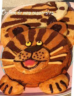 G�teau d'anniversaire tigre