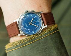 Soviet vintage wristwatch unisex watch mechanical by SovietEra