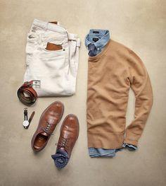 "Phil Cohen on Instagram: ""Midway Humpday #humpday Sweater: @toddsnyderny Cashmere Tie: @suitsupply Shoes: Alden Tan Longwing Socks: @thetiebar Shirt/Belt: @jcrew Wallet: @bisonmade Watch: @danielwellington Denim: RRL Wheat Wash @ralphlauren"""
