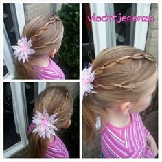 A fun knotted hairstyle #cutegirlshairstyles #hairstylesforgirls #haircreations