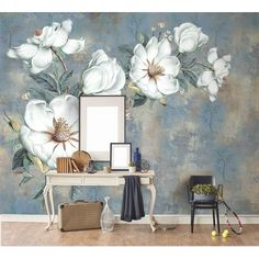Painting Supplies & Wall Treatments Cheap Sale Beibehang Custom Wallpaper Idyllic American Flower Fresh Vine Tv Background Wall Living Room Bedroom Decoration 3d Wallpaper Matching In Colour