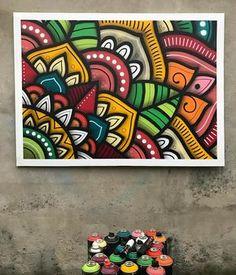 Mandala Painting, Dot Painting, Posca Art, Wall Drawing, Art Graphique, Mural Art, Doodle Art, Oeuvre D'art, Watercolor Art