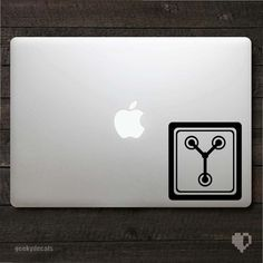 Flux Capacitor Macbook Decal via Etsy.