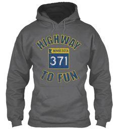 Highway To Fun 371 Dark Heather Sweatshirt Front