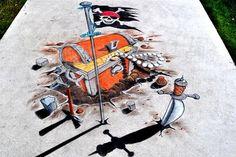 Street Wall Art, Urban Street Art, 3d Sidewalk Art, Chalk Festival, Pavement Art, Art 3d, 3 D, Doodles, Canvas