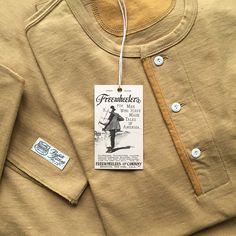 Freewheelers Short Sleeve Henley! (made in japan, desolation row, power wear)